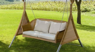 How to make a swing for children in the country