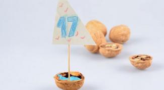 Как сделать лодку из скорлупы грецкого ореха