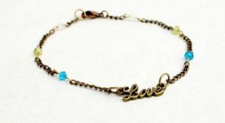Как сделать красивый браслет с надписью Love