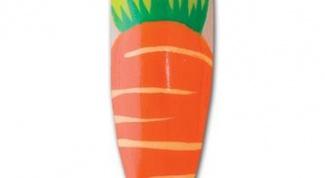 Как сделать маникюр с нарисованной морковкой