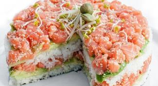 Как просто приготовить суши-торт дома