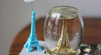 Как сделать сувенир с Эйфелевой башней