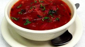 Рецепт приготовления вегетарианского борща