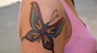 What does the tattoo butterfly