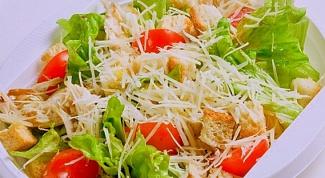 "Как приготовить ""Цезарь"" с помидорами черри"
