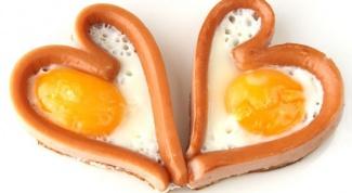 Как приготовить яичницу в форме сердца