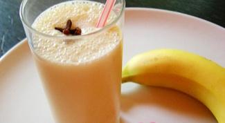 Молочный коктейль с бананом