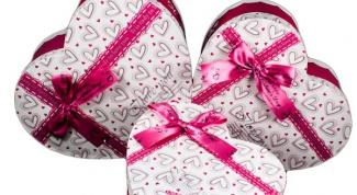 Как сделать коробку в форме сердца своими руками