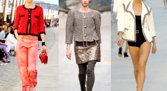 С чем носить жакет в стиле шанель