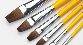 How to choose a brush for watercolor