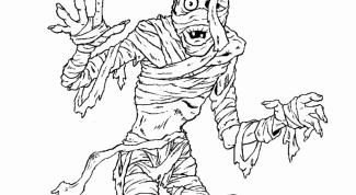 Как нарисовать мумию карандашом
