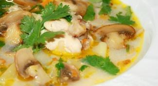 Сырно-грибной суп