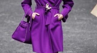 Пальто сиреневого цвета