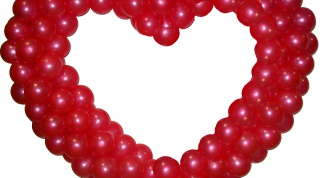 Как сделать сердце из шаров