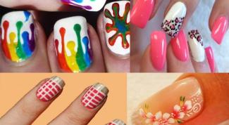 Модный летний дизайн наращенных ногтей