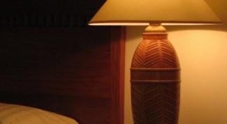 Как сделать настольную лампу из керамической вазы