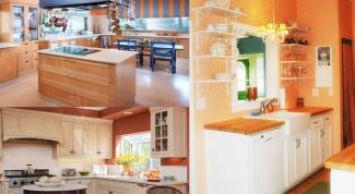 Кухня в персиковом цвете