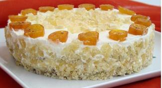 Лимонно-имбирный торт без муки