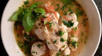 Рыбная солянка с каперсами