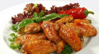 Marinated chicken wings in the oven
