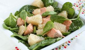 Китайский новогодний салат из лосося