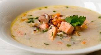Суп из морепродуктов с белым вином