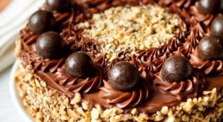 Chocolate nut cake with