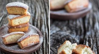 Как приготовить мандариновые кексы с маком