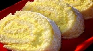 Рулет с лимоном