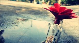 """""""Признание в бутылке"""" на День Святого Валентина"""