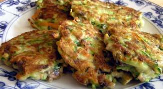 Zucchini fritters-zucchini: a recipe