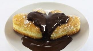 """Пончики с шоколадом """"Валентинки"""""""