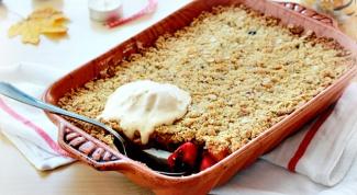 Как приготовить десерт с яблоками и ягодами