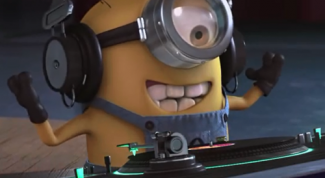 Why Minions in the final song Despicable me 2 sing the word