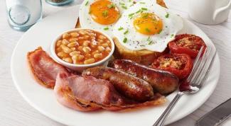 В английских традициях: плотный завтрак