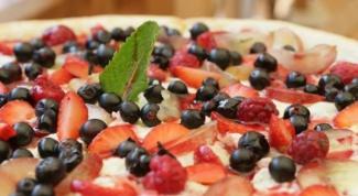 Как приготовить сладкую пиццу