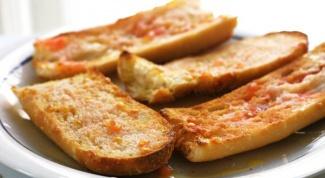 Как пожарить хлеб