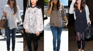 What to wear with a long blouse