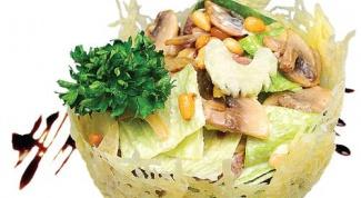Салат в корзинках из «Пармезана»