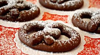 Как приготовить шоколадные крендельки