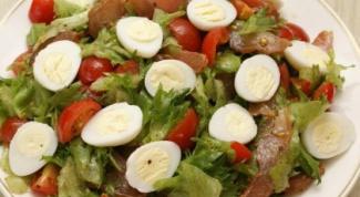 Salad with carpaccio