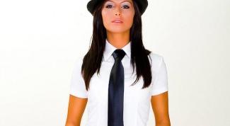 С чем носить женский галстук