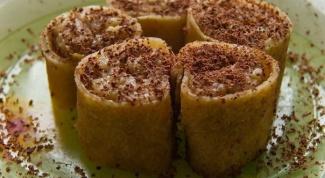 Сладкие роллы с грецкими орехами