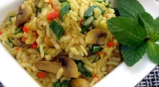 Как приготовить в микроволновой печи  рис  по-итальянски