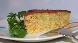 Как быстро приготовить овощную запеканку с  макаронами