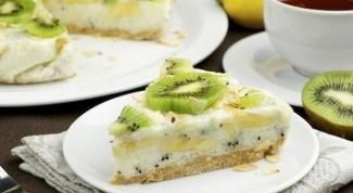 Йогуртовый торт с киви и бананами