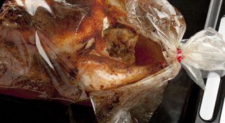 Приготовление курицы в рукаве для запекания