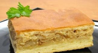Нежный пирог с капустой