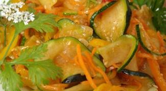 Кабачки, маринованные по-корейски