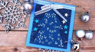 Как  просто сделать новогодние открытки ручной работы
